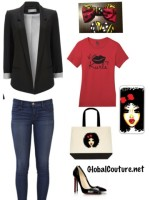 Outfit of the Week: Kiss my Kurls Tee & Curly Ashley Accessories