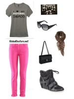 Outfit of the Week: I Love My Natural Swagg tee & Houndstooth accessories