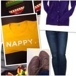 Outfit of the Week: Nappy tee & Kente earrings