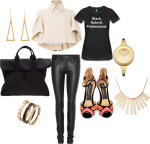 Outfit of the Week:  Black.Natural.Professional