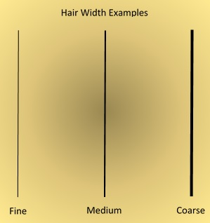 Hair Width Examples by Maicurls
