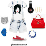 Outfit of the Week: Locs & Lipstick with overalls